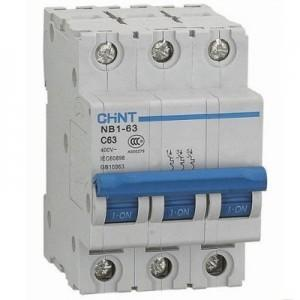 Chint Johdonsuojakatkaisija NB1-63, 3B, 25A, 6kA