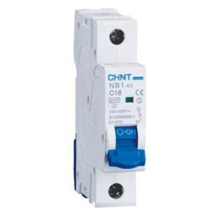 Chint Circuit breaker NB1-63, 1B, 10A, 6kA