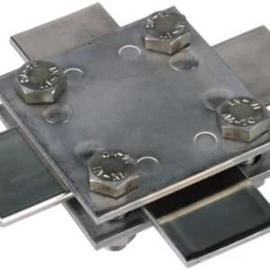 Ristiliitin, laatta 30/30 mm, V4A